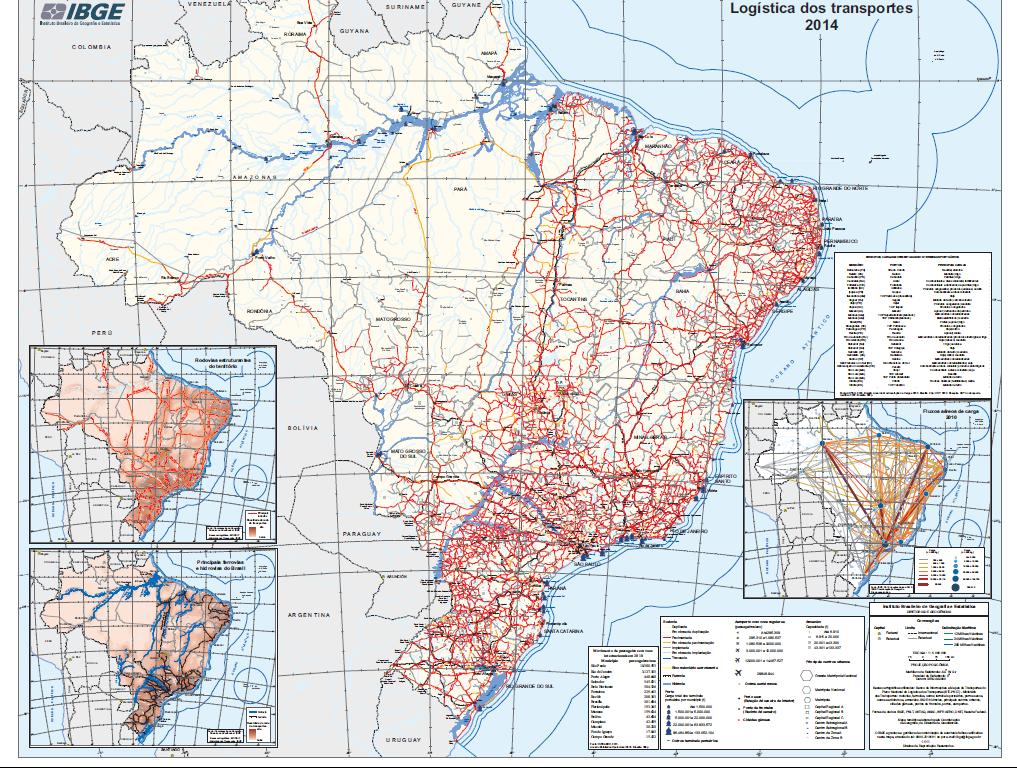 logistica transporte no brasil