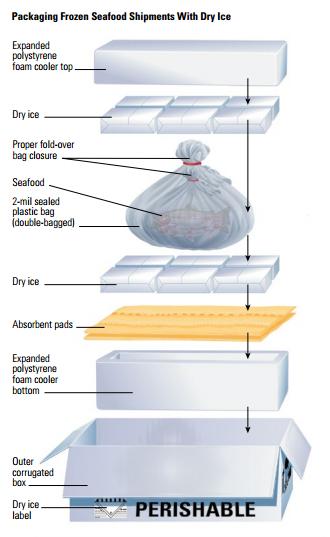 dicas para transportar produtos pereciveis congelados